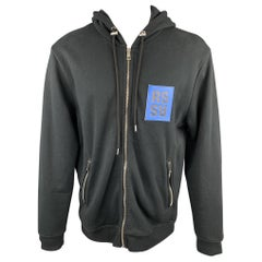 RAF SIMONS To The Archives No Longer Relevant Robot Black Cotton Hoodie