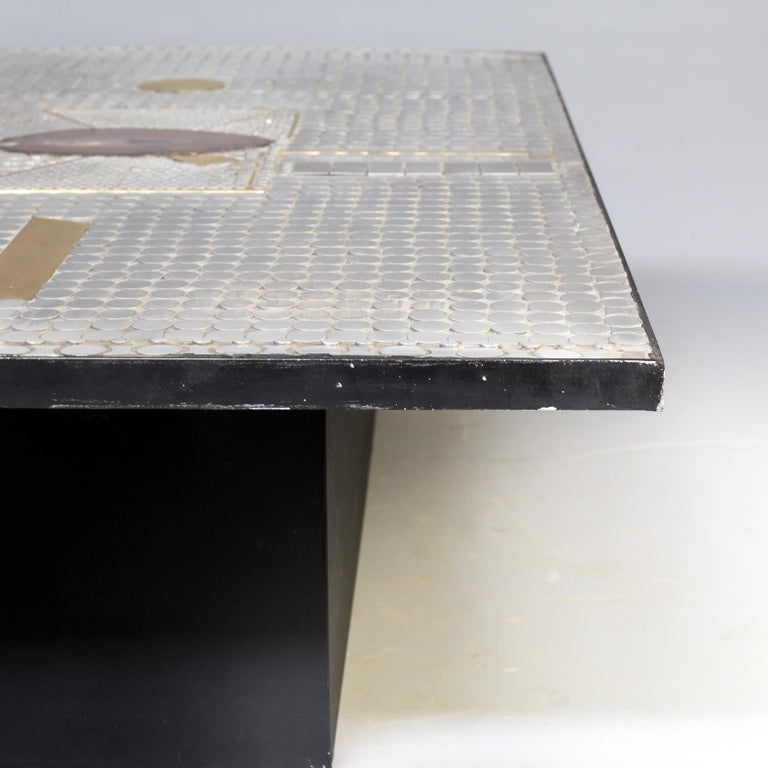 Raf Verjans Coffee Table with Agate Stone For Sale 3