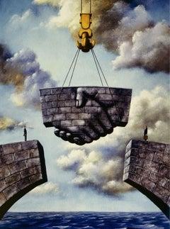 An agreement - XXI century, Figurative Surrealist print