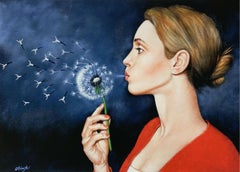 Dandelion - XXI Century, Contemporary Figurative Surrealist Print, Portrait