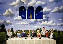 Last supper - XXI Century, Contemporary Figurative Surrealist Print, Pop culture