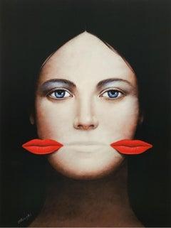 Lips - XXI Century, Contemporary Figurative Surrealist Print