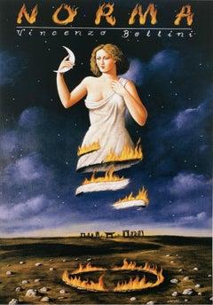Norma - XXI Century, Contemporary Figurative Surrealist Print, Opera
