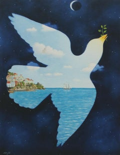 Tales of love (Dove) - XXI Century, Contemporary Print, Surrealist, Animalism