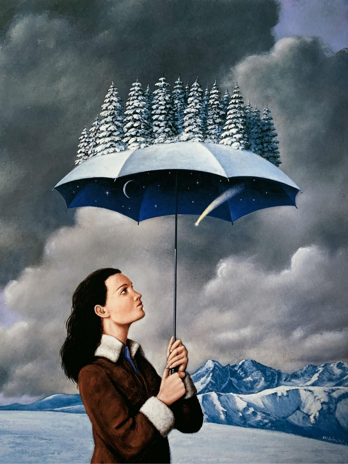Winter - 21st century, Figurative Surrealist print