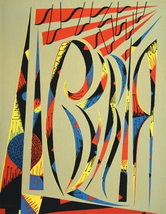 Composition - Original Lithograph - 1972