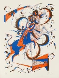 Flying Horse - Original Lithograph by Rafael Alberti - 1970