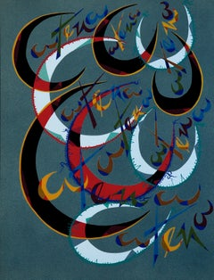 Letter C - Original Lithograph by Raphael Alberti - 1972