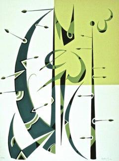Letter D - Original Lithograph by Rafael Alberti - 1972