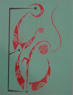 Letter E by Raphael Alberti - Original Lithograph 1972