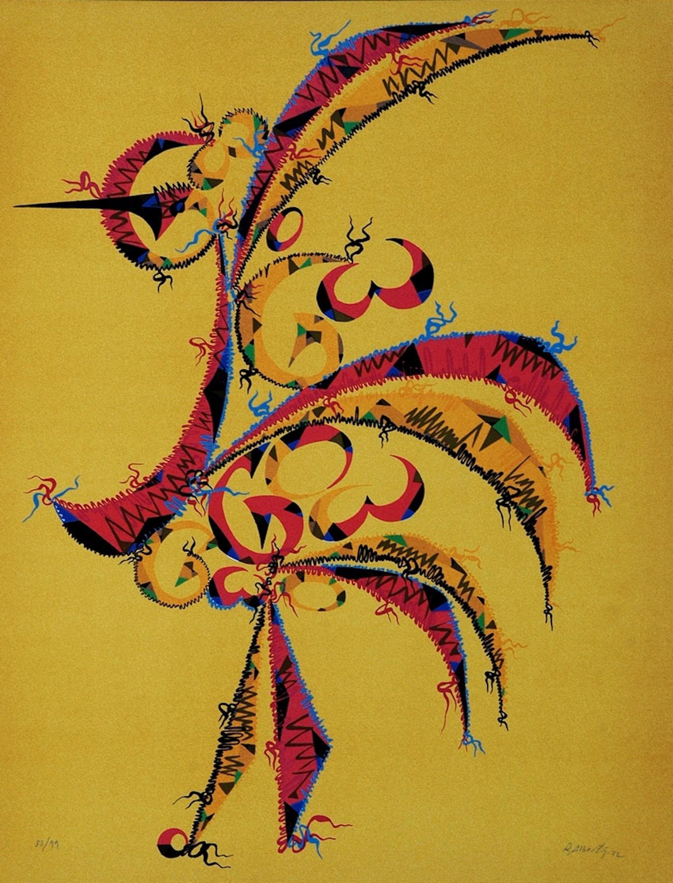 Letter G - Original Lithograph by Raphael Alberti - 1972