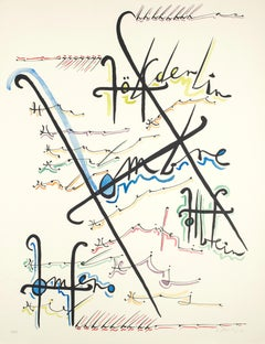 Letter H - Hand-Colored Lithograph by Raphael Alberti - 1972