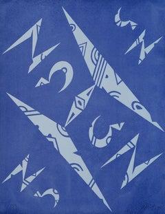 Letter H - Original Lithograph by Raphael Alberti - 1972