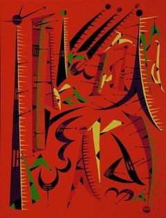 Letter I - Original Lithograph by Raphael Alberti - 1972