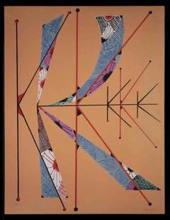 Letter K by Rafael Alberti - Original Lithograph by Rafael Alberti - 1972