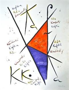 Letter K - Original Lithograph by Raphael Alberti - 1972