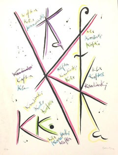 Letter K - Original Lithograph by Raphael Alberti - 1972