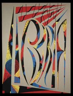 Letter L - Original Lithograph by Rafael Alberti - 1972