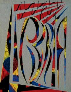 Letter L - Original Lithograph by Raphael Alberti - 1972
