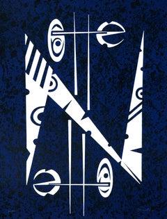 Letter N - Original Lithograph by Raphael Alberti - 1972