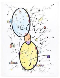 Letter O - Original Lithograph by Raphael Alberti - 1972