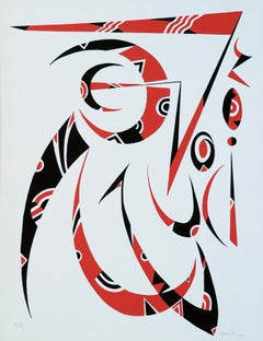 Letter R - Original Lithograph by Raphael Alberti - 1972