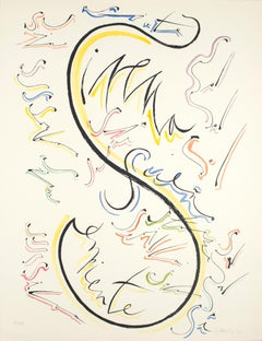 Letter S - Hand-Colored Lithograph by Raphael Alberti - 1972
