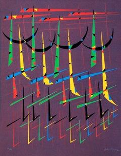 Letter T - Original Lithograph by Raphael Alberti - 1972