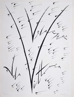 Letter V - Original Lithograph by Rafael Alberti - 1972