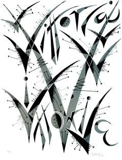 Letter V - Original Lithograph by Raphael Alberti - 1972