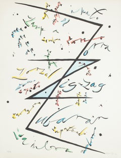 Letter Z - Hand-Colored Lithograph by Raphael Alberti - 1972