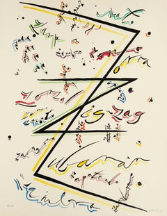 Letter Z - Original Hand-Colored Lithograph by Raphael Alberti - 1972