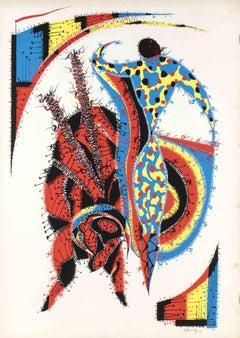 Matador - Original Screen Print by Rafael Alberti - 1975