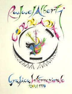 Rafael Alberti - Grafica Internazionale - Lithograph by Rafael Alberti - 1970