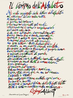 The Lyricism of Alphabet - Original Lithograph by Raphael Alberti - 1972