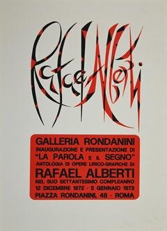 The Word and the Sign - Original Screen Print by Rafael Alberti - 1973