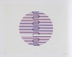 """Jupiter 4"", Geometric Serigraph by Rafael Bogarin"