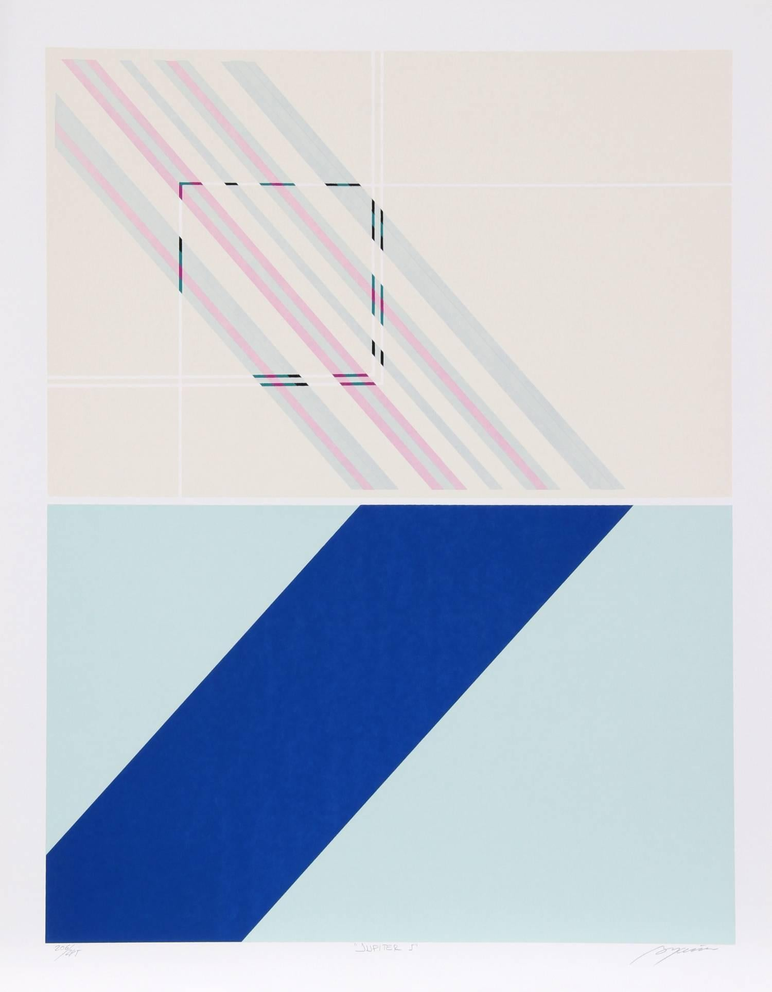 """Jupiter 5"", Geometric Serigraph by Rafael Bogarin"