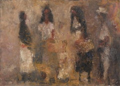 Conversation in the Streets - Abstract Figurative