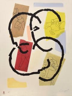 Los Juegos - Original Lithograph by Rafael Canogar - 2008