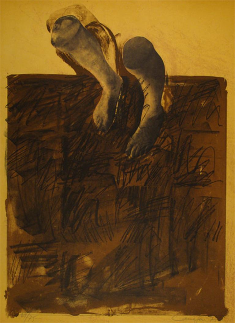 RAFAEL CANOGAR: El Caminante - Lithograph on paper, Spanish conceptualism