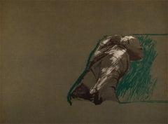RAFAEL CANOGAR: Figura sobre la hierba Lithograph on paper Spanish conceptualism
