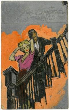 Romantic Stairway Rendezvous