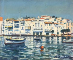 Cadaques seascape Spain original oil painting