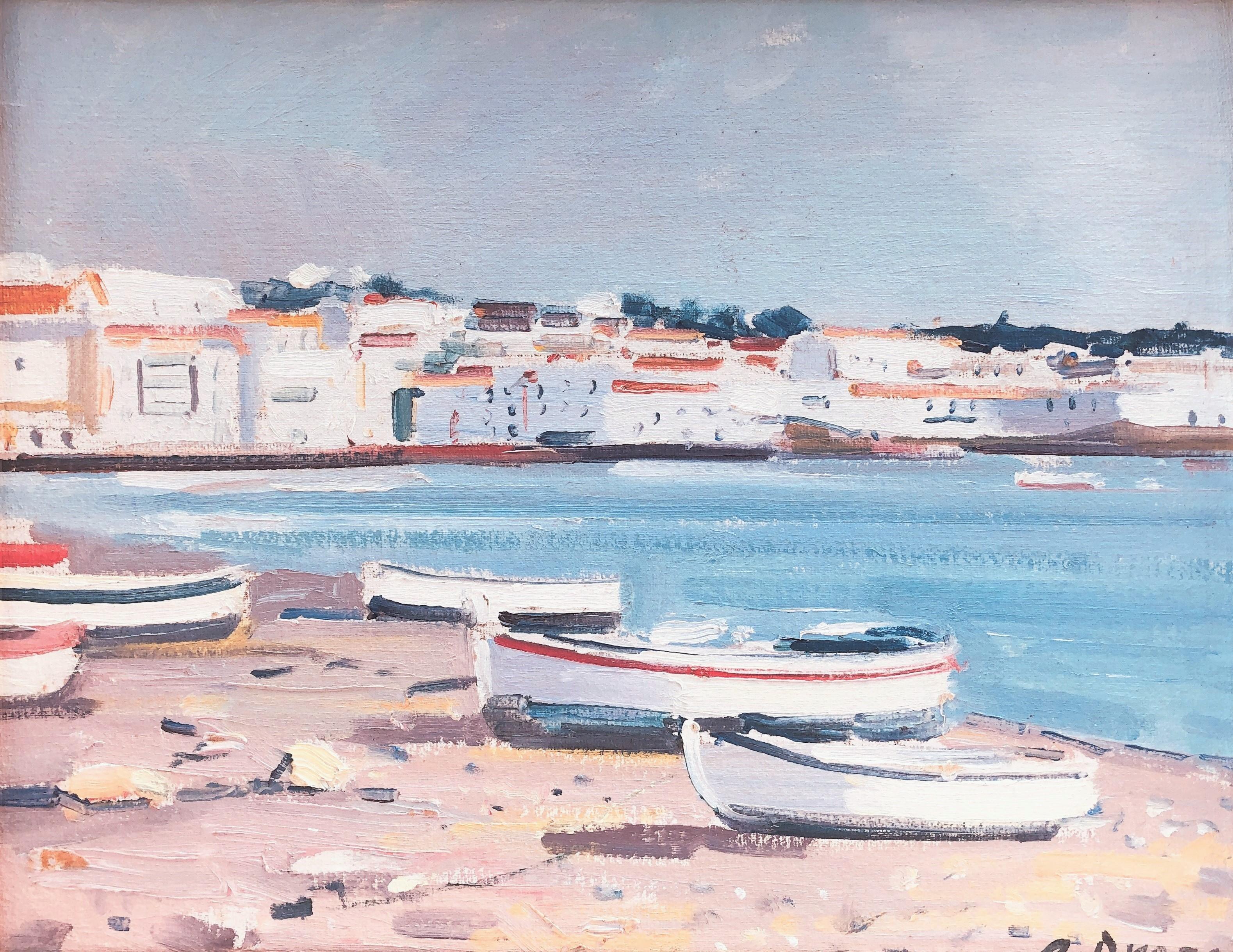 Mediterranean seascape Cadaques Spain original oil painting