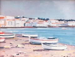Mediterranean seascape Cadaques Spain original oil painting