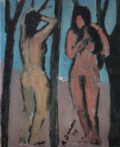 Nude women original oil painting