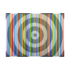 """""""71 Colors From Violet To Brown on Target"""" Colorful Abstract Op Art Painting"""