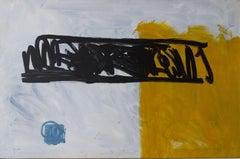 """ABSTRACT GEOMETRIC FORMS. YELLOW BLACK BLUE""- RUZ - ORIGUNAL - COLOR - 2009"