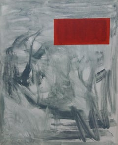 Red original abstract acrylic canvas painting